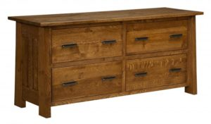 L & N - Freemont Mission Four Drawer Lateral File: 69x22x31.
