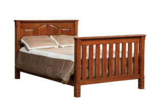 "OLD TOWN OAK - West Lake Double Bed - Dimensions: 56.5""w x 45""h"