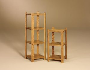 AJ - Small 3 Tier Stand - Dimensions (in inches): 13w x 13d x 26.75h,Small 4 Tier Stand - Dimensions (in inches): 13w x 13d x 40h.