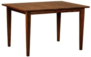 WEST POINT - Dover Leg Table - Dimensions (in inches): 36x42, 36x48, 36x54, 42x42, 42x48, or 42x54 with up to 4 leaves - Custom finish options available, please see store for details.