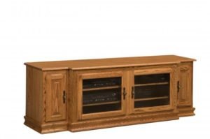 SCHWARTZ - Heritage TV Stand SC-74 H No Towers - Dimensions: 74w x 20d x 251⁄4.25h.