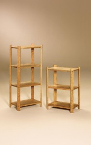 AJ - Medium 3 Tier Stand - Dimensions (in inches): 18w x 11d x 26.75h Medium 4 Tier Stand - Dimensions (in inches): 18w x 11d x 40h.