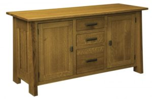 L & N - Freemont Mission Credenza: 60x22x31, 16 inch Drawer.