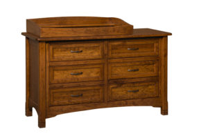 "OLD TOWN OAK - West Lake 6 Drawer Dresser w/ Box Top - Dimensions: Dresser only size: 56""w x 34""h x 21.5""d, Dresser with box top size 56""w x 40""h x 21.5""d"