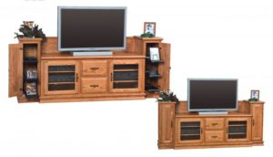 SCHWARTZ - Heritage TV Stand SC-60 H W/Towers - Dimensions: 86w x 20d x 35.25h TV area width - Dimensions: 60 inches.