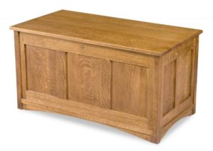A & J - Mission Cedar Chest - Dimensions (in inches): 38w x 20d x 19.75h, fully cedar lined.