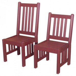 Creekside - Mission Side Chairs - (M209 Lowback), Size: 18 inches.
