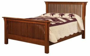 SCHWARTZ - Meadow Mission Bed - Dimensions: HB 52 inch, FB 33 3/4 inch, Overall size: King 87 inch x 88 1/2 inch, Queen 71 inch x 88 1/2 inch, Full 65 inch x 84 1/2 inch