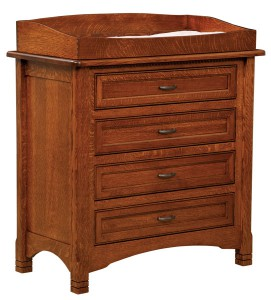 "OLD TOWN OAK - West Lake 4 Drawer Dresser w/ Box Top - Dimensions: Dresser only size: 41""w x 39""h x 22""d, Dresser with box top size 41""w x 45""h x 22""d"