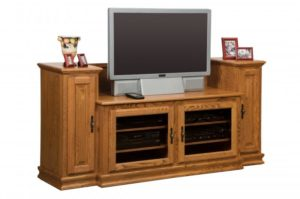 SCHWARTZ - Heritage TV Stand SC-48 H w/Towers - Dimensions: 74w x 20d x 35.25h TV area width - Dimensions: 48 inches.