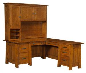 L & N - Freemont Corner Desk With Topper - Dimensions (in inches): Corner Desk-66x32x31, 22 inch Drawer, Return Desk- 48x20x31, 14 inch Drawer FMRD36, Corner Desk-74x36x31, 26 inch Drawer, Return Desk-24x52x31, 18 inch Drawer Topper-64x13½x47.