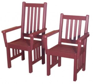 Creekside - Mission Captain's Chairs - (M210 Lowback), Size: 18 inches.