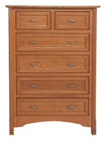 "OLD TOWN OAK - West Lake 6 Drawer Chest - Dimensions: 40.25""w x 53""h x 22""d"