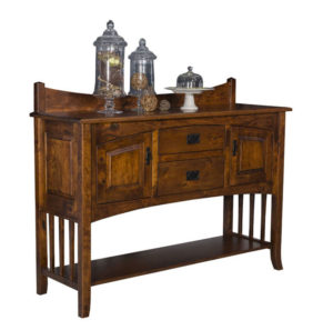 TOWNLINE - Cambria Sideboard with Fixed Shelf - Dimensions (in inches): 20d x 60w x 38h - Custom features and finish options available, please see store for details.