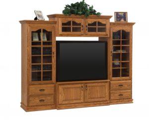 SCHWARTZ - Heritage SC-H 4-piece TV Unit - Dimensions: 94w x 22.75d x 73.75h.