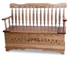 A & J - Royal Arrow Acorn Bench - Dimensions (in inches):48w x 18d x 37h - 12.5 inch Storage.