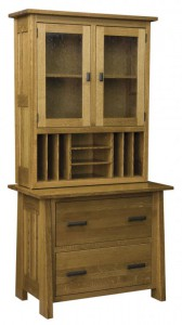 L & N - Freemont Mission Lateral File: 39x22x31, 14½ inch Drawer, With Topper: 38x13½x45.