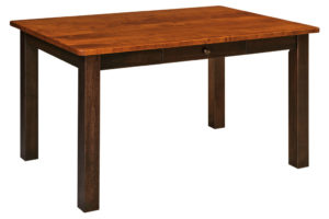 WEST POINT - Asheville Leg Table - Dimensions (in inches): 36x54, 36x60, 36x66, 42x54, 42x60, or 42x66, solid top only - Custom finish options available, please see store for details.
