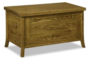 A & J - Carlisle Cedar Chest - Dimensions (in inches): 38w x 19.5d x 22h, fully cedar lined.