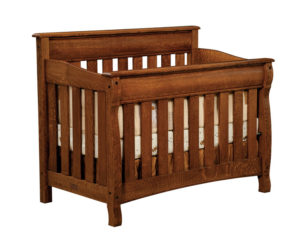 "OLD TOWN OAK - Castlebury Crib - Dimensions: 56.5""w x 44.5""h x 32""d"
