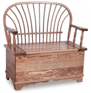 A & J - Sheaf Bown Bench - Dimensions (in inches):36w x 18d x 38.5h, 12.5 inch Storage, call store for additional sizes.