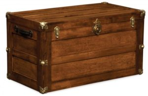 A & J - Flat Lid Trunk - Dimensions (in inches): 38 x 20 x 21, cedar bottom only.