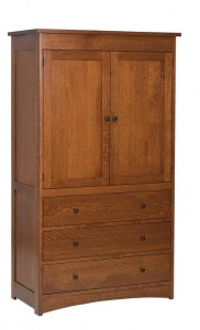 SCHWARTZ - Jacobson 1-Piece Armoire - Dimensions: 3 drawer, 2 door, 41w x 21d x 71h