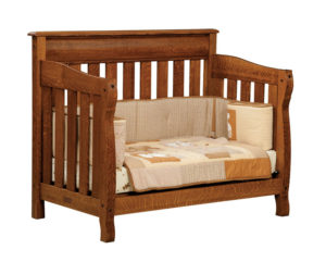 "OLD TOWN OAK - Castlebury Toddler Bed - Dimensions: 56.5""w x 44.5""h x 32""d"