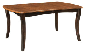 WEST POINT - Canterbury Leg Table - Dimensions (in inches): 42x60, 42x66, 42x72, 48x60, 48x66, and 48x72 with up to 4 leaves - Custom finish options available, please see store for details.