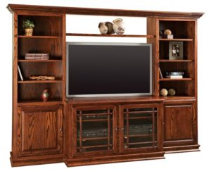 SCHWARTZ - Heritage SC-48 Jason-H - Dimensions: 101w x 20.5d x 74.75h TV area - Dimensions: 48w x 411⁄2h Console - Dimensions: 201⁄2d x 30h Bookcases - Dimensions: 24w x 12d.