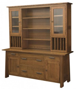 L & N - Freemont Mission Credenza: 74x22x31, 14½ inch Drawer, With Topper:72x13½x47.