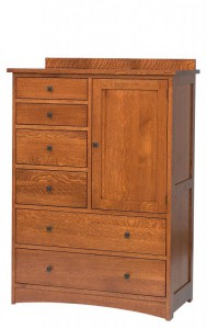 SCHWARTZ - Jacobson Door Chest - Dimensions: 6 drawer, 1 door, 41w x 21d x 55h