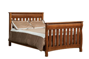 "OLD TOWN OAK - Castlebury Double Bed - Dimensions: 56.5""w x 44.5""h"