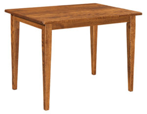 WEST POINT - Dayton Leg Table - Dimensions (in inches): 30x42, 33x42, 36x42, 30x48, 33x48, and 36x48, solid top only - Custom finish options available, please see store for details.