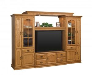 SCHWARTZ - Heritage 4 Piece SC Wall Unit - Dimensions: w/16 CD pullouts #54 118w x 24.75d x 84.25h.