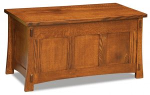 A & J - Modesto Cedar Chest - Dimensions (in inches): 38w x 20.25d x 20.25h, fully cedar lined.