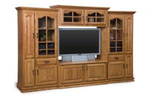 SCHWARTZ - Heritage SC-H 4-piece TV Unit - Dimensions: w/10 DVD pullouts 112w x 22.75d x 73.75h.