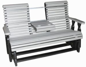 CREEKSIDE - Rollback Glider with Flip-down Console - (RB78) Size: Five feet.