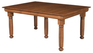 WEST POINT - Hampton Leg Table - Dimensions (in inches): 42x60, 42x66, 42x72, 48x60, 48x66, or 48x72 with up to 4 leaves - Custom finish options available, please see store for details.