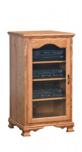 SCHWARTZ - Heritage SC-OSC-H Stereo Cabinet - Dimensions: 25w x 20d x 43.75h.