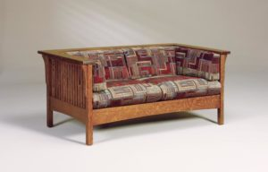 AJ's - Cubic Slat Love Seat: 65w x 34.5d x 29h (solid bottom standard, springs optional).