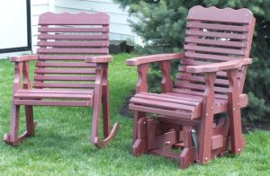 CREEKSIDE - Plainback Rocker and Glider - (PB93 - Rocker and PB95 - Glider). Size: 22 inches.