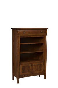 "OLD TOWN OAK - Castlebury Bookcase - Dimensions: Bookcase size: 40""w x 60""h x 15.5""d, with 2 adjustable shelves"