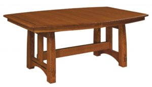 WEST POINT - Colebrook Trestle Table - Dimensions (in inches): 42x60, 42x66, 42x72, 48x60, 48x66, and 48x72 with up to 4 leaves - Custom finish options available, please see store for details.