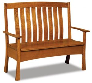 A & J - Modesto Bench - Dimensions (in inches):47w seat x 22d x 43h, 51.5, Arm to Arm, 6 inch Storage, call store for additional sizes.