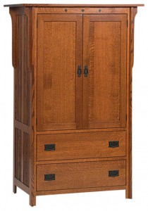 SCHWARTZ - Royal Mission Armoire - Dimensions: 1-piece, 43w x 22d x 64h