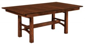 "WEST POINT - Bridgeport Trestle Table - Dimensions (in inches): 42x60,42x66, 42x72, 48x60, 48x66, or 48x72 with up to four 12"" leaves - Custom finish options available, please see store for details."