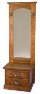 A & J - Elena Hall Tree - Dimensions (in inches):24w x 19d x 70h, Mirror.
