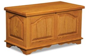 A & J - Cathedral Cedar Chest - 38w x 19.5d x 20h, fully cedar lined.
