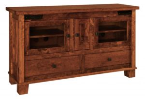 SCHWARTZ - Laredo TV Stand SC-60 - Dimensions: 60w x 18d x 33,75h One adjustable shelf behind center door.